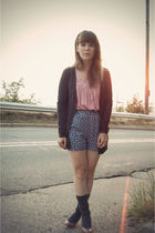 pink dsw warehouse shoes - gray modcloth socks - blue Shop Ruche shorts - gray U