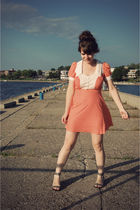 orange Noble Town Vintage dress - gray Urban Outfitters shoes