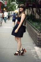 brown Urban Outfitters belt - black Jeffrey Campbell shoes