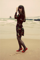 Tulle dress - Urban Outfitters tights - Blowfish Shoes flats