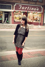 Ruby-red-target-tights-black-modcloth-dress-black-urban-outfitters-cardigan-