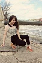 tawny Blowfish Shoes heels - black threadsence pants