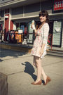 Pink-modcloth-dress-gray-modcloth-cardigan-pink-forever-21-accessories-bei