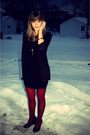 Black-forever-21-dress-black-silence-and-noise-at-uo-sweater-gold-dolly-and-