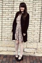 light pink Topshop dress - black Francescas Collections jacket