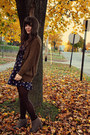 Light-brown-blowfish-shoes-boots-navy-swap-dress-black-hue-tights