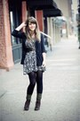 Black-urban-outfitters-cardigan-black-thrifted-dress-dark-brown-seychelles-v