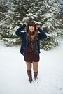 Light-brown-urban-outfitters-boots-dark-brown-lulus-dress-dark-green-threads