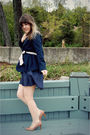 Blue-modcloth-dress-beige-dsw-shoes-blue-forever-21-blazer