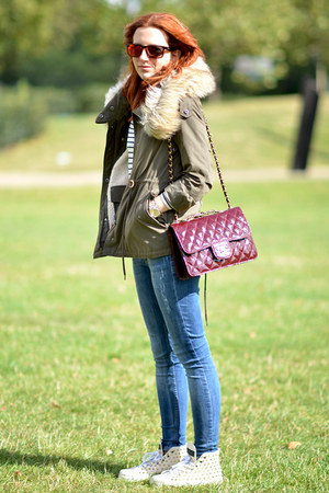 Zara jacket - Topshop jeans - Chanel bag - ted baker sunglasses