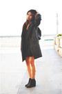 Black-stack-heel-asos-boots-black-silk-target-dress-dark-gray-coat-h-m-coat