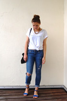 H&M jeans - Monki shirt - Zara bag - Zara sandals - H&M accessories