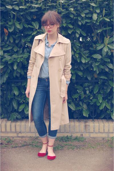 Vero Moda coat - H&M shirt - Zara flats