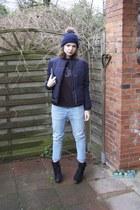 Zara jeans - H&M jacket - H&M sweater - Zara heels