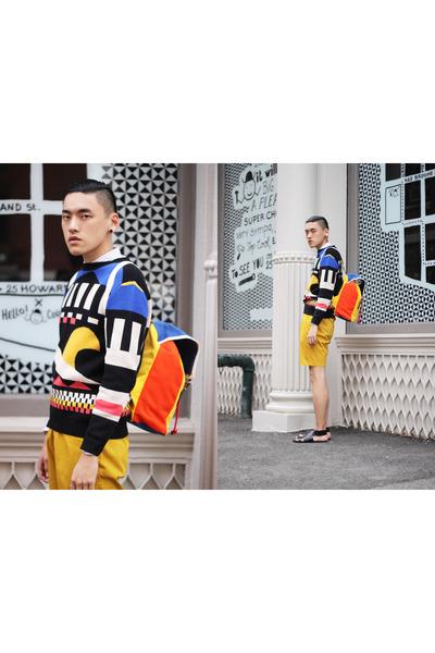 Henrik Vibskov sweater - poka dot Henrik Vibskov shirt - YRKA bag - bag
