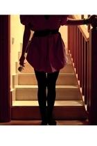 vintage dress - vintage belt -