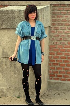 levis second hand shirt - Secondhand skirt - my mum belt - Self Made tights - my