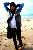 H&M t-shirt - BLANCO shirt - H&M scarf - Zara jeans - Zara purse - H&M belt