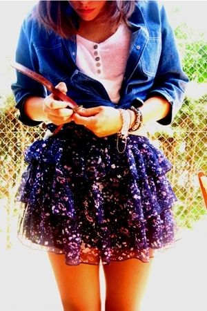 vintage shirt - Primark skirt - my dad belt - H&M t-shirt