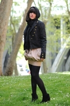 pull&bear jacket - Primark skirt - Calcedonia tights - Zara shoes