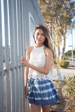 sky blue obe skirt