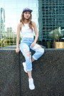 Sky-blue-topshop-jeans-light-blue-d-camper-hat-portelli-hat