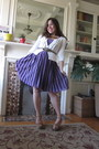 Light-purple-pleated-bebe-dress-tan-mia-wedges-cream-mossimo-cardigan