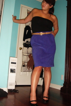 skirt - shoes - belt - top