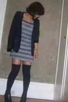 gray Bettina Liano shoes - gray Dont Ask Amanda dress - black Sunshine jacket