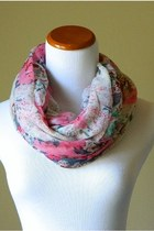 Floral Melody Infinity Scarf in Ivory