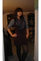 Jcpenny vest - H&M shirt - Macys tights - H&M scarf