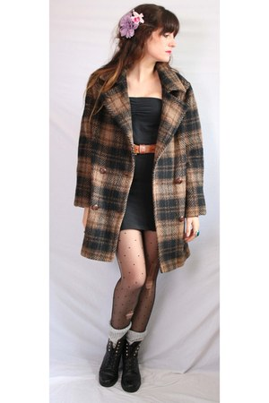 dark brown wool Aurora Vintage Boutique coat