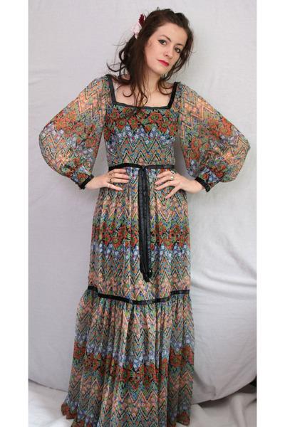 70s Maxi Dress Aurora Vintage Boutique Dresses - &quot-70s maxi dress ...