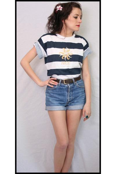 Jean High Waist Levis Aurora Vintage Boutique Shorts, Stripe Ts ...