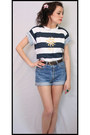Jean-high-waist-levis-aurora-vintage-boutique-shorts-stripe-t-shirt-aurora-vi