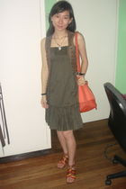 Mango vest - Mango dress - orange Mango accessories - orange Steve Madden shoes