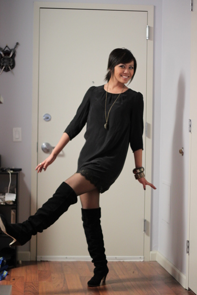 Apologise, Black pantyhose and black boots are not