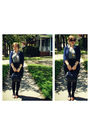 Blue-charlotte-russe-cardigan-gray-thrifted-blouse-black-fredflare-skirt-b