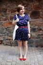 Blue-forever-21-dress-red-vintage-belt-red-urban-outfitters-shoes-white-co
