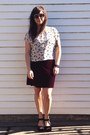 Black-urban-outfitters-shoes-maroon-vintage-dress-black-zerouv-sunglasses