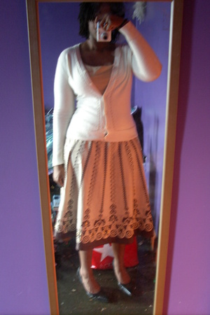 skirt - shoes - sweater