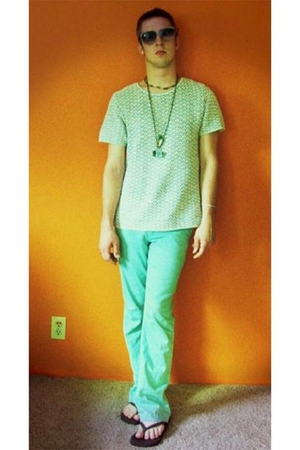 pants - harbor district vintage shirt - shoes