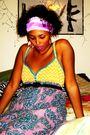 Purple-dress-macys-blazer-kohls-earrings-thrift-store-scarf