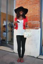 Reserve naturelle hat - Bershka jeans - asos bag - Mango t-shirt - H&M vest