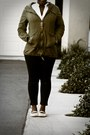 Black-levis-jeans-olive-green-charlotte-russe-jacket-blowfish-flats
