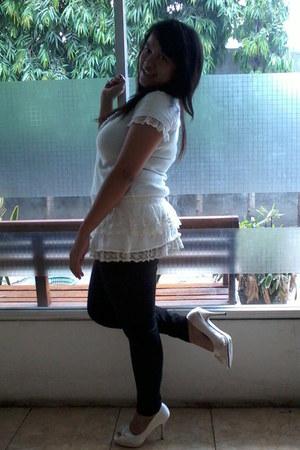 unbranded dress - unbranded leggings - FLD heels
