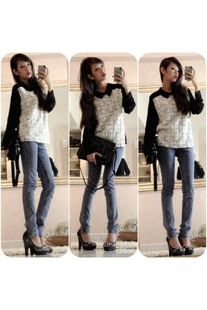 rosette front Azorias blouse