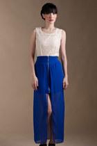 sheer maxi Azorias skirt