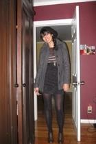 H&M coat - sweater - skirt