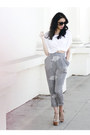 White-cropped-shirt-gray-modest-mob-pants-beige-foxy-jeffrey-campbell-heels